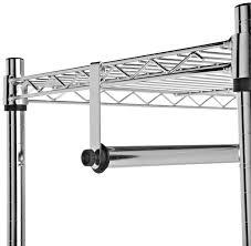 amazon com amazonbasics garment rack with top and bottom shelves