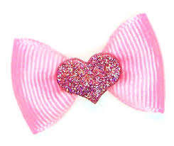 pink hair bow dog hair bows