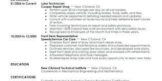 automotive technician resume exles automotive technician resumes splashimpressions us