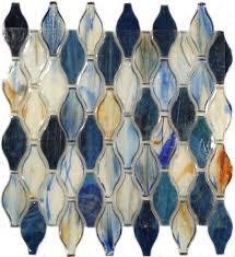 hirsch unique shapes blue glass unique shapes tile glossy xcm227