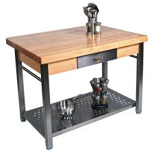 kitchen island butcher block table chic metal kitchen island butcher block top with chrome salt and