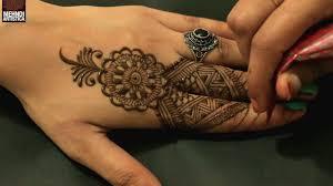 modern fingers mehndi design by tribal