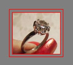 art deco engagement ring antique 1920s french by mrsfullersattic