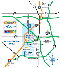 Map Of Orlando by International Drive Orlando Map Orlando Map Pinterest
