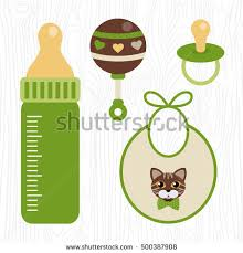 unisex baby shower vector unisex baby shower set design stock vector 500387908
