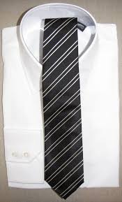 black and white striped tie and white shirt rath u0026 co