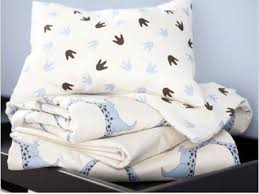 dinosaur print organic crib bedding gives soothing bed time to