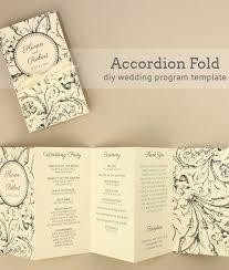 Bi Fold Wedding Program Programs Download U0026 Print