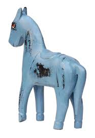 horse statues for home decor bulk wholesale hand crafted 8 u201d distressed look pastel blue colored