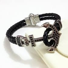 anchor bracelet men images Punk atolyestone emperor navy anchor bracelet men stainless steel jpg
