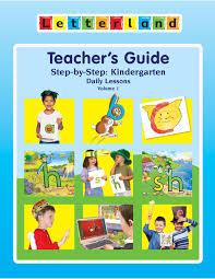 kindergarten teacher u0027s guide vol 1 u s edition by letterland
