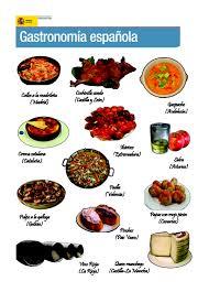 la cuisine espagnole exposé affiche pour la classe de la gastronomie espagnole