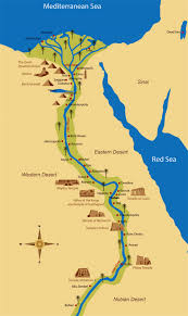 Ancient Map Of Africa by Detailed Map Of Ancient Egypt Egypt Africa Mapsland Maps