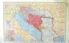 Yugoslavia Map 17 Print Map 1922 Yugoslavia Bosnia Battle Temesvar Nish Spalato