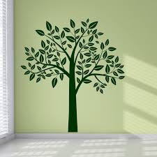 leafy tree decorative flowers and trees wall stickers home decor