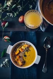 Pumpkin Soup Tureen And Bowls by Comforting Pumpkin Coconut Soup With Brown Rice Sesame U0026 Thyme