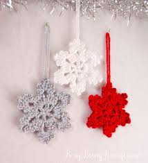 101 handmade days crocheted snowflake ornament busy being