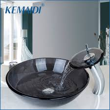 bathroom glass bowl sink promotion shop for promotional bathroom
