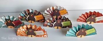 thanksgiving place cards the happy scraps