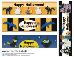 happy halloween printables printable halloween water bottle labels u2013 halloween wizard