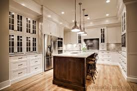 white dove kitchen cabinets houzz custom painted kitchen with oak island contemporary