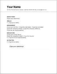 resume template simple basic resume outline sle http www resumecareer info basic