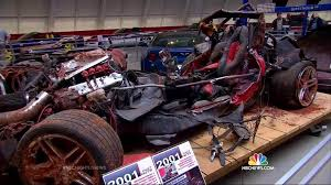 corvette museum collapse wrecked cars from sinkhole on display at national corvette museum