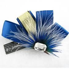 cheap ribbon new design fashion groom corsage creative feather ribbon