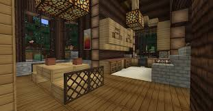 minecraft interior design kitchen minecraft survival log cabin interior dining room kitchen
