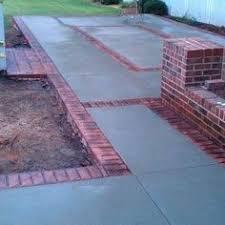 Concrete Patio Bricks Concrete Patio With Brick Trim Patio Pinterest Concrete