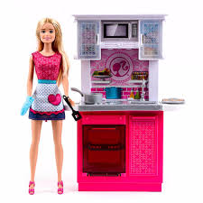 kitchen barbie doll and kitchen furniture set md toys youtube