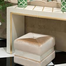 Ivory Console Table High End Modern Italian Ivory Gold Leaf Console Table Set