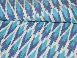 Ikat Home Decor by Ikat Cotton Fabric Homespun Ikat Fabric For Home Decor Blue White