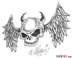 skull tattoo images free wings tattoo images u0026 designs
