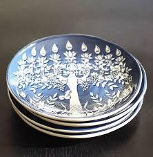 hanukkah tableware gorgeous hanukkah tree of plates from pottery barn