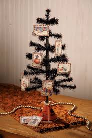 black feather tree with mini deco bead ornaments set