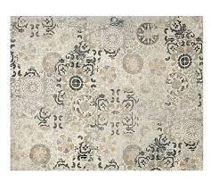 talia printed rug gray pottery barn
