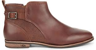 ugg womens demi boot lyst ugg demi leather boots in brown