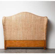Wingback Headboard King by Popular Of Seagrass Headboard King Holbrook Seagrass Wingback