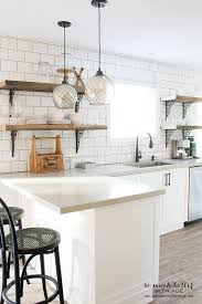 Replace Kitchen Cabinets With Shelves by Rustic Industrial Kitchen Shelves So Much Better With Age