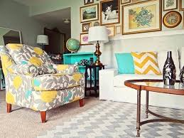 chevron rug living room yellow and turquoise living room turquoise yellow and gray living