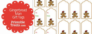 Printable Gingerbread Man Gift Tags | gingerbread man gift tags printable treats com