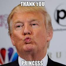 Thanks Meme - thank you princess donald trump kissing make a meme