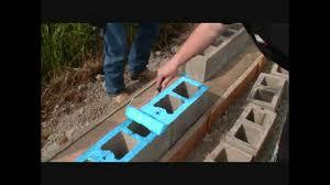 landscape block adhesive concrete building construction without mortar youtube