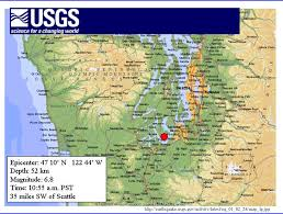 Earthquake Map Seattle by The Geophile Pages Lessons Natural Disasters