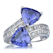 trillion tanzanite diamond rings wedding promise diamond