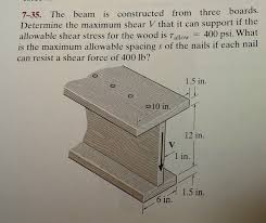 problem 7 35 the beam is constructed from three bo chegg com