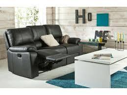 canape cuir prix canapé fixe relaxation manuel 2 places en cuir coloris noir