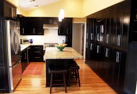 fine dark kitchen cabinets images wood and black 52 in design