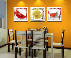 frameless picture hanging wholesale 3 piece fruit wall art decor painting home kitchen